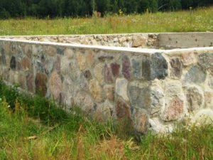 Устройство фундамента из камня