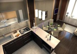 Кухня-гостиная площадью 18 кв. м: особенности планировки, дизайна и зонирования