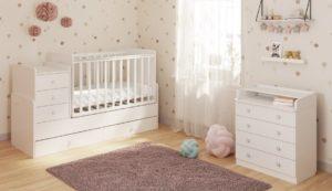 Детская кровать с комодом: виды, размеры и дизайн