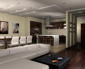 Кухня-гостиная в стиле минимализм: особенности и характерные черты