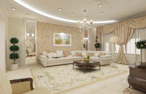 Интересные идеи ремонта гостиной