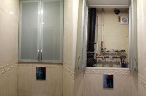 Дверцы для сантехнического шкафа в туалете: какой вариант выбрать?