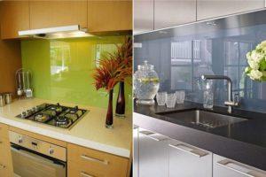 Фартук для кухни из стекла: как выбрать и установить?