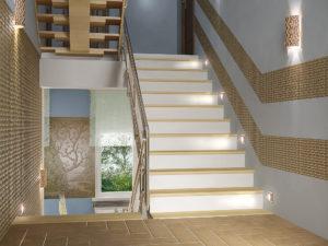 Как красиво оформить лестницу в таунхаусе?