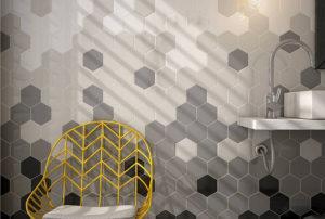 Плитка соты: особенности формы и применение в интерьере