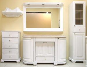 Гарнитуры для ванной комнаты: особенности выбора мебели
