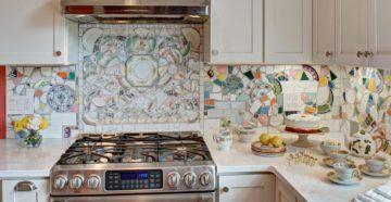 Как и из чего сделать фартук для кухни своими руками?