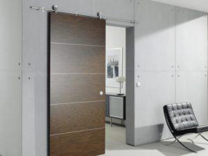Откатные межкомнатные двери: особенности конструкции