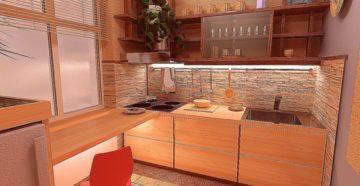 Оригинальные варианты дизайна кухни в хрущевке