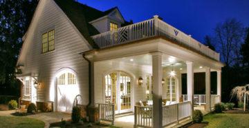 Варианты проектов домов с верандой