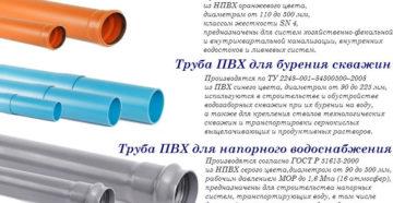 Трубы ПВХ: технические характеристики и применение