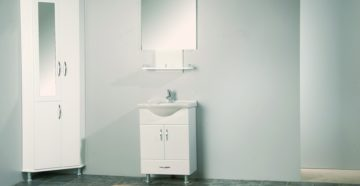 Напольные шкафы в ванную комнату: виды и советы по выбору
