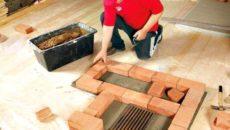 Процесс изготовления фундамента под печь
