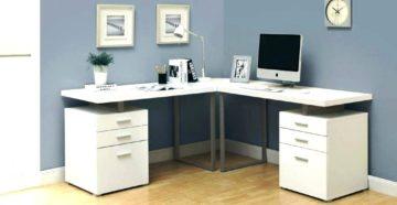 Угловой письменный стол для двоих детей: размеры и особенности выбора