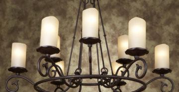 Люстры со свечами