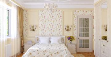 Обои для спальни в стиле Прованс