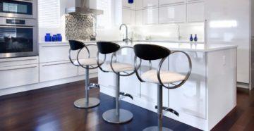 Барные дизайнерские стулья в современном интерьере