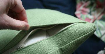 Как вшить молнию в наволочку для подушки?