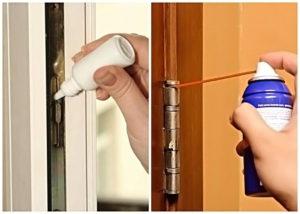 Чем и как смазать дверные петли, чтобы они не скрипели?