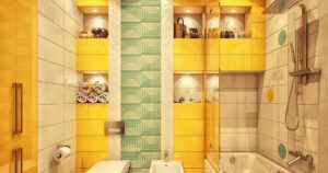 Желтая плитка: красивые примеры в интерьере