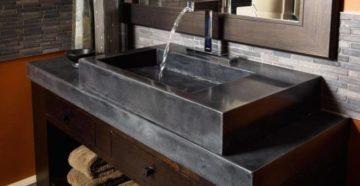 Раковины из бетона: плюсы и минусы, тонкости изготовления