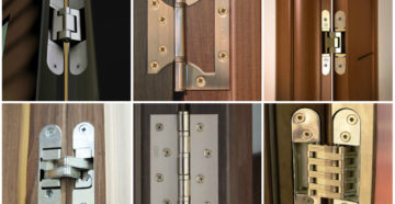 Дверные накладные петли: как выбрать и установить?