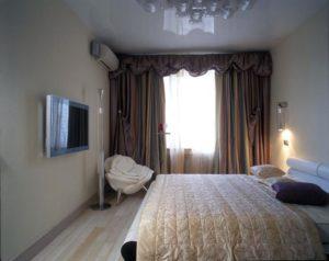 Дизайн спальни  площадью 20 кв. м