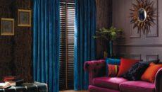 Синие шторы: особенности и советы по выбору