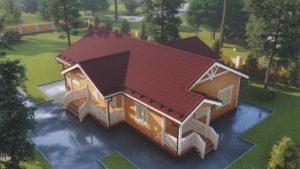 Тонкости планировки одноэтажных домов из сруба