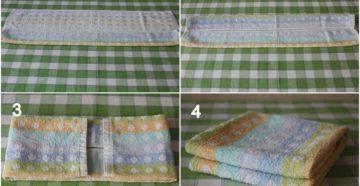 Как красиво сложить полотенце?