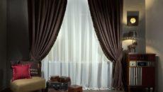 Коричневые шторы в интерьере: интересные идеи