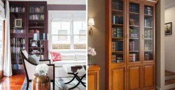 Книжный шкаф со стеклянными дверцами: выбор и дизайн
