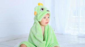 Детское полотенце с капюшоном: особенности выбора и пошива