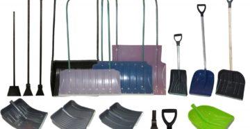 Пластиковые снеговые лопаты: разновидности и советы по выбору