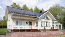 Особенности оформления фасадов финских домов