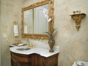 Виды штукатурки для ванной комнаты