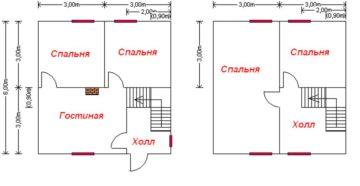 Проектирования каркасных домов метражом 6х6