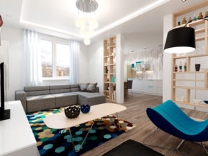 Дизайн однокомнатной квартиры: примеры оформления интерьера