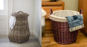 Уют в интерьере – самодельные корзины для белья