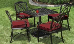 Садовая мебель из металла: особенности и преимущества