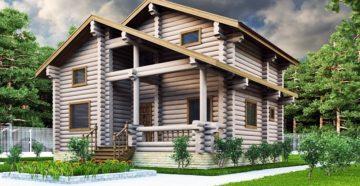 Оригинальные проекты деревянных домов из оцилиндрованного бревна