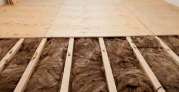 Какой утеплитель лучше выбрать для пола в деревянном доме?