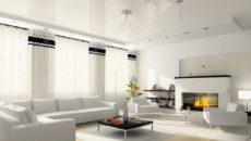 Белые натяжные потолки: виды и идеи дизайна в интерьере