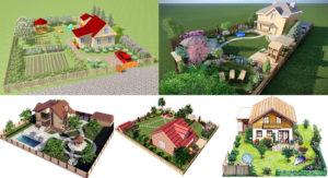 Примеры планировки участка площадью 10 соток: практичные идеи размещения