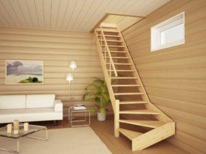 Лестницы на мансарду: виды конструкций и варианты дизайна
