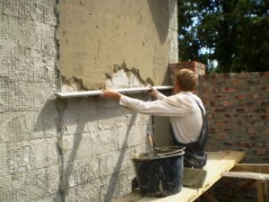 Можно ли штукатурить сруб внутри цементным раствором бетон купить лида