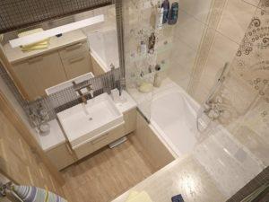 Обзор модной плитки для маленькой ванны: примеры дизайна