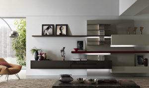 Выбираем навесные полки в гостиную в современном стиле