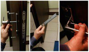 Процесс замены ручек для входной дверей