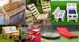 Садовая мебель из поддонов: что можно сделать своими руками?